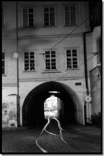 tunel tranvia calle Letenska